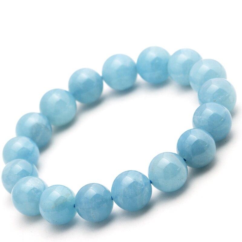 Sea Blue Bracelet Natural Ladies Crystal Hand Run Blue Lap Bracelet Birthday Gift