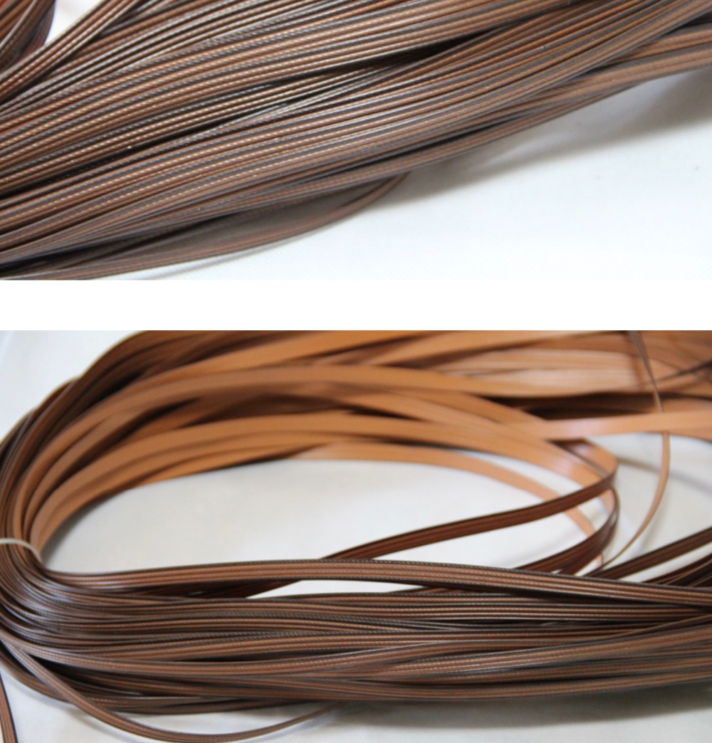 65Meters lot 500g Width 8mm Thickness 1 3mm Simulation Rattan Coffee Color PE Plastic Flat Chair Tea Knitted Materials in Furniture Accessories from Furniture