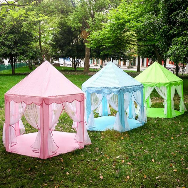 Children Tent Princess Indoor Six Corner Dollhouse Large Nets