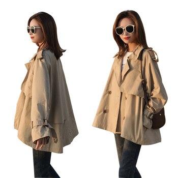 Trench Coat Women 2019 New Spring and Autumn Fashion Korean Khaki Loose Short Trench Coat Casual Wild Windbreaker Female Coat