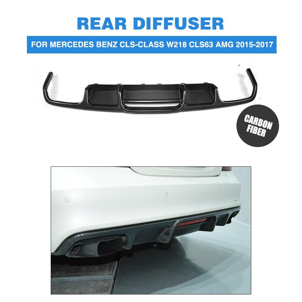 Carbon Fiber Rear Bumper Exhaust Diffuser Lip Spoiler for Mercedes Benz CLS-Class W218 CLS63 AMG Sedan 4-Door 2015-2017