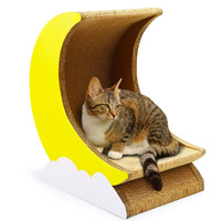 Cat scratch board corrugated paper cat play board house bowl moon cat scratcher pet supplies kitten toys cat banana tower