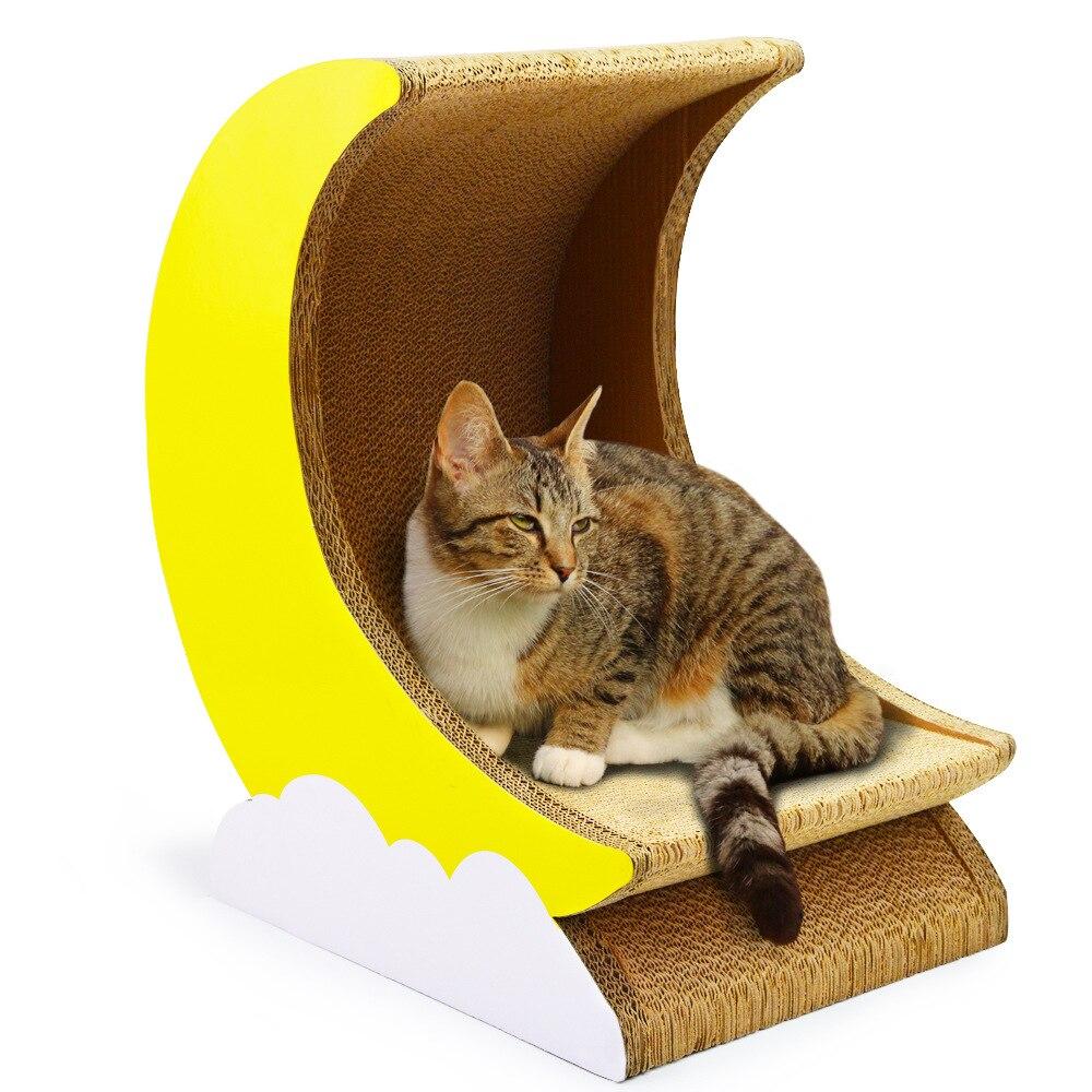 Chat gratter conseil ondulé papier chat jouer conseil maison bol lune chat scratcher fournitures pour animaux chaton jouets chat banane tour
