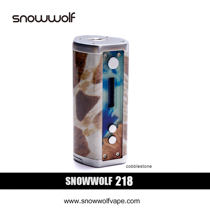 2pcs/lot SnowWolf 218W Box Mod Vape Electronic Cigarette Kit Battery Powered by 18650 Mod Box E Cigarette Variable 10-218W Vapor