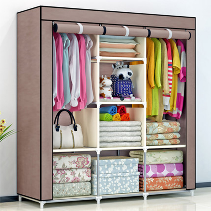 2018 DIY Non woven fold Portable Storage  furniture When the quarter wardrobe  Cabinet bedroom furniture wardrobe bedroom organ|Wardrobes| |  - title=