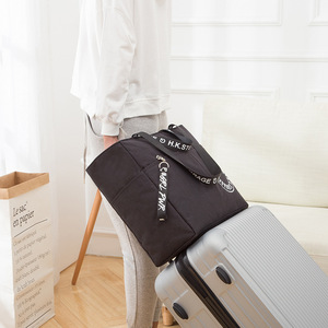 Image 2 - Waterproof Big Travel Bag Foldable Women Duffle Bag Travel Organizer Overnigh Bags Portable Shoulder Weekend Bags Business Tote
