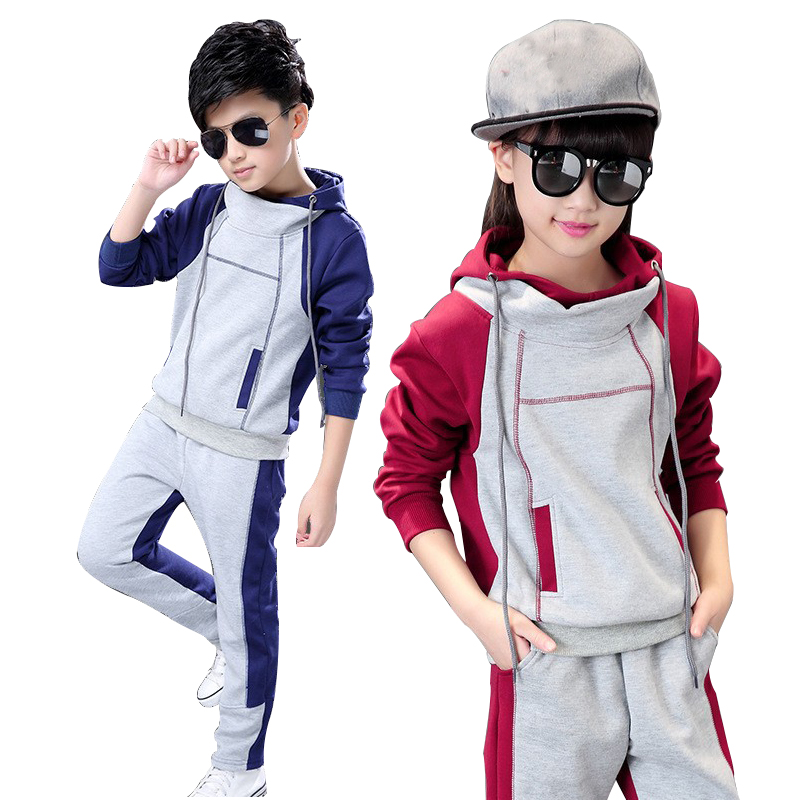 kids clothes boys girls fall outfits back to school outfit girl Hooded tracksuit clothes children clothing set 2Pcs 8 12 14 Year шкатулка underwood un 882 tan