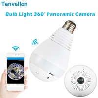 V380 Lampe Licht Wireless IP Kamera FishEye HD 960 P 360 grad Smart Home CCTV VR Kamera Home Security WiFi kamera Panorama