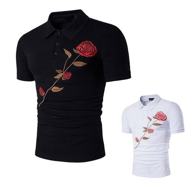 127d3142 New Polo Shirt Men Mesh Mens Polo Shirt Man Short Sleeve Rose Solid Polo  Shirt Male Polo Shirts Brand Clothing LB