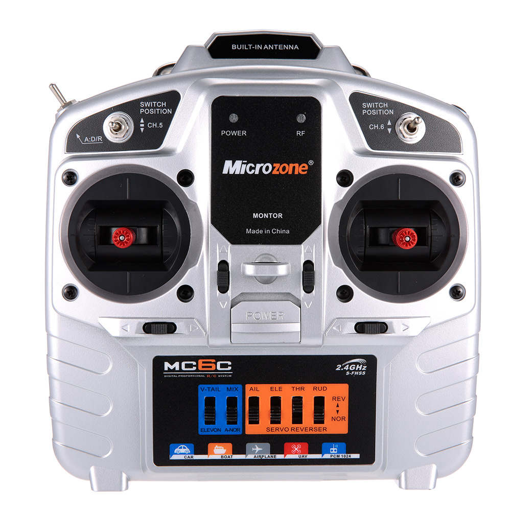 MC6C 2 4G S FHSS 6CH Mode 2 RC Transmitter with MC7RB 6CH RC Receiver for