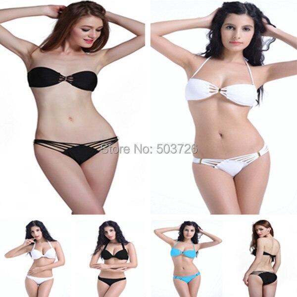 High Fashion Strapy Swimwear Women Padded Bikini Set Sexy Lady Swimsuit Hot Sale Bathing Suit
