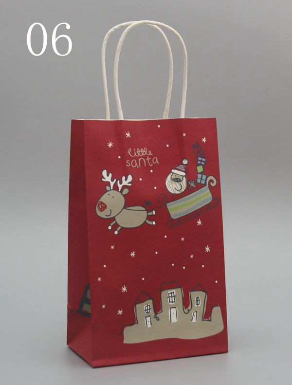 New Arrival Merry Christmas Paper Bags With Haddle Christmas Paper
