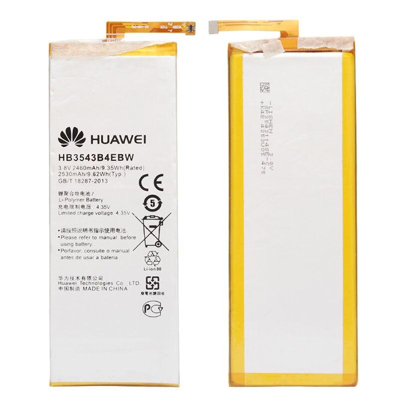 Original HB3543B4EBW 2530mAh 3.7V Li-ion mobile phone battery for Huawei Ascend P7 Batterie Bateria free tools