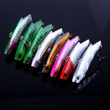 2018 New 9cm 28g Hard Fishing Lure VIB Rattlin Hook Fishing Sinking Vibra Rattlin Hooktion Lures Pencil Baits Peche Seawater fis(China)