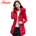 FIONTO Womens Winter Jackets And Coats 2017 Thick Warm Hooded Women Jacket Women Parkas Women Winter Jacket Manteau Femme A160