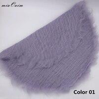 Handmade Round Super Soft Blanket Layer Fluffy Wool Felt Fleece Basket Filler Stuffer Newborn Baby Photography