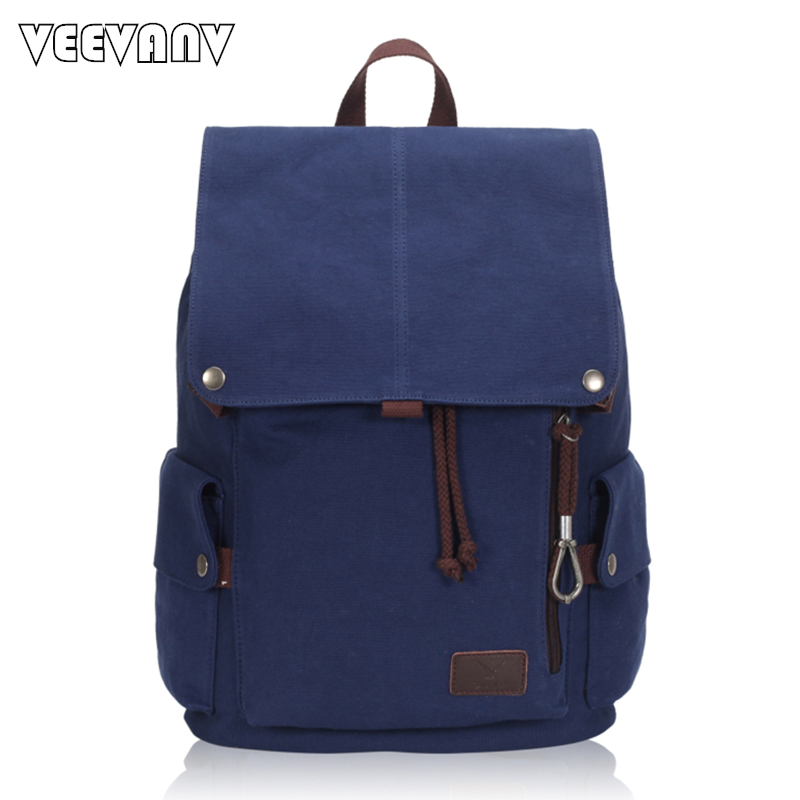 2018 Fashion Brands String Canvas Women Backpacks Vintage School Backpack Female Shoulder Bags Travel Bag Large Laptop Backpacks