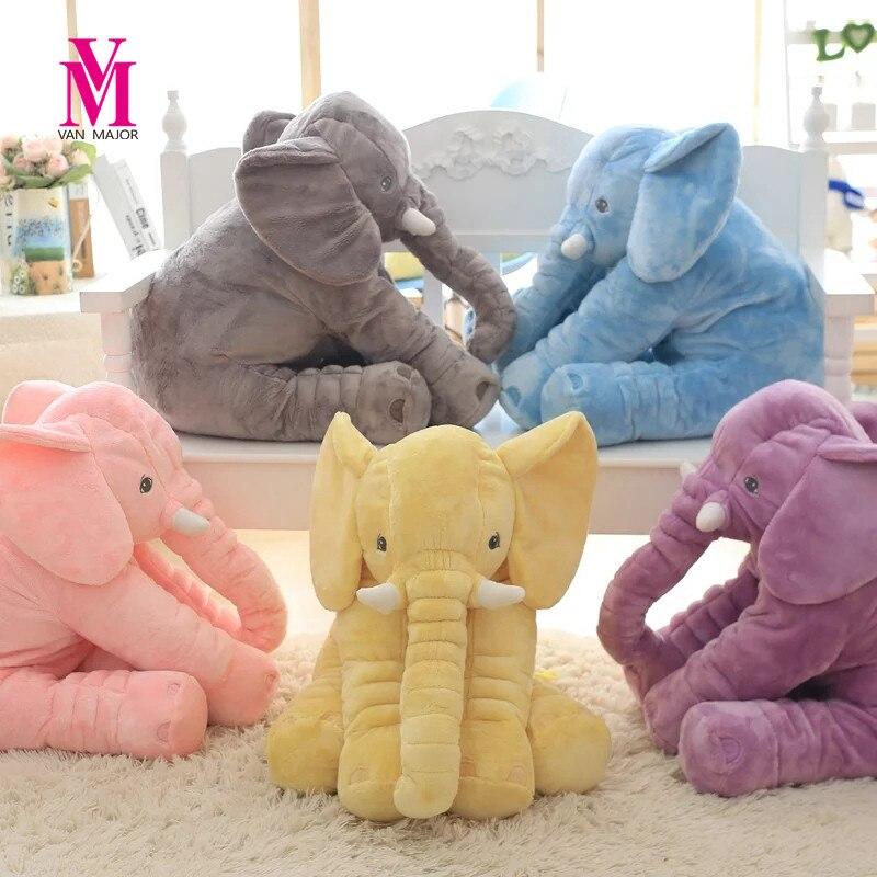 1 unid 40/60 cm Infante Soft Appease elefante Playmate Calm Baby Doll Appease juguetes elefante Pillow Juguetes muñeca de peluche