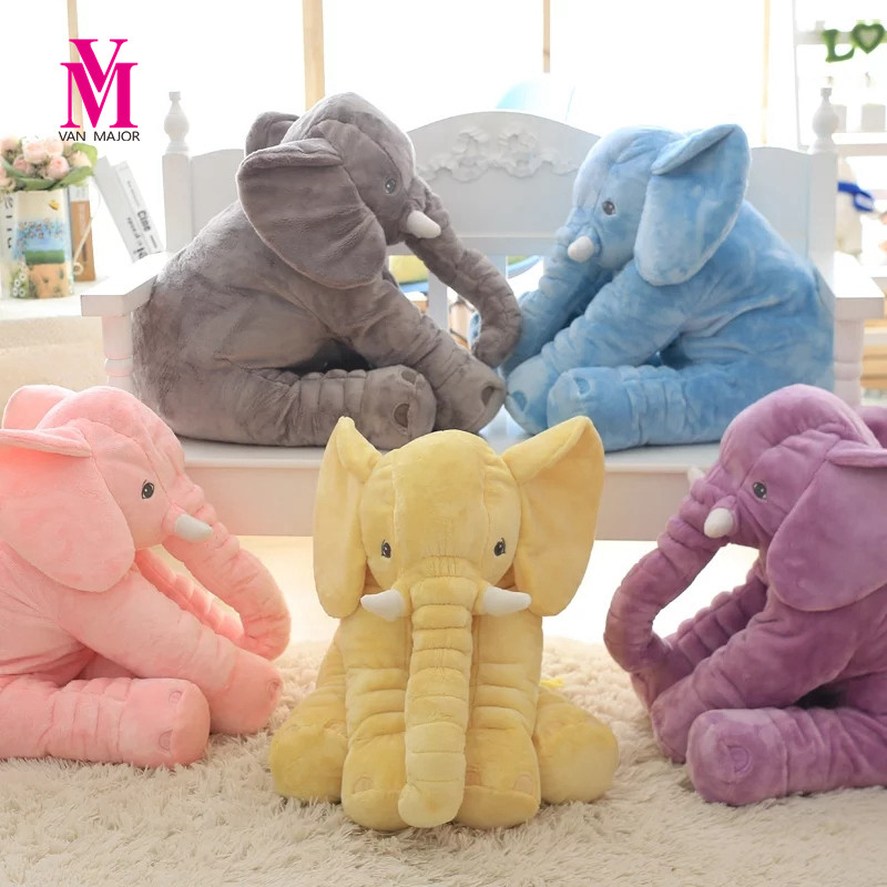 1PC 40 60cm Infant Soft Appease Elephant Playmate Calm Doll Baby Appease font b Toys b