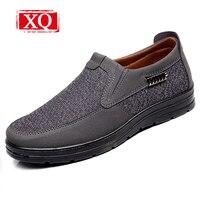 XQ Nowe Przypadkowi Buty Mężczyźni Lniane Potu Oddychające Buty Lekkie I Wygodne odporna na Zużycie Mieszkania Buty męskie Biznesowe buty T316