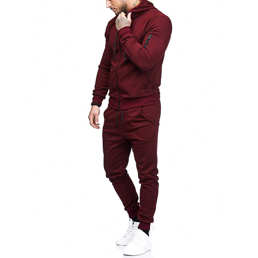 HTB16DHCdjbguuRkHFrdq6z.LFXac 2019 fashion Patchwork Zipper Sweatshirt Top Pants Sets Sports Suit solid color slim Tracksuit High Quality Pullover clothing