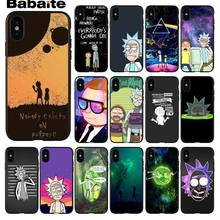 Babaite un mini Rick y Morty divertido anime TPU funda de silicona suave del teléfono para el iPhone 5 5Sx 6 7 7plus 8 8Plus X XS MAX XR(China)