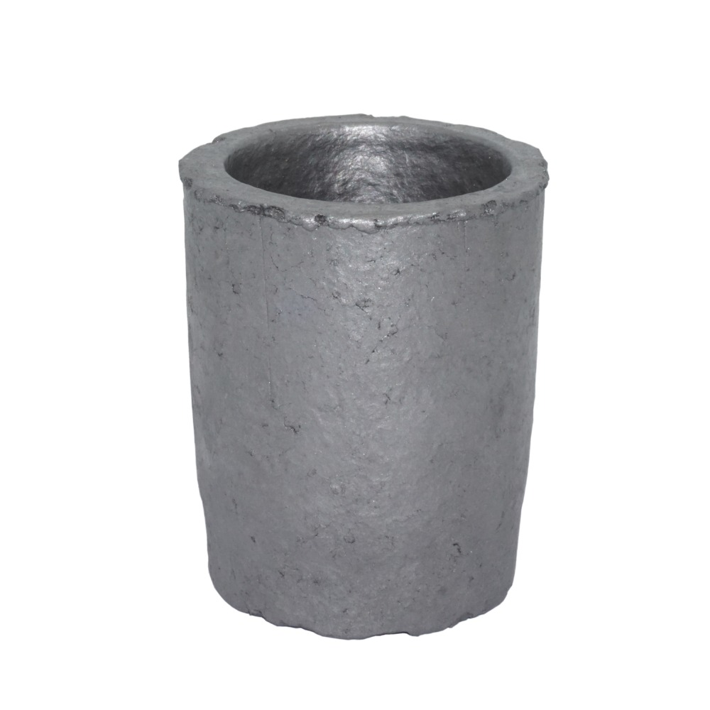 2# Foundry Silicon Carbide Graphite Crucibles Cup Furnace Torch Melting Casting Refining Gold Silver Copper Brass Aluminum