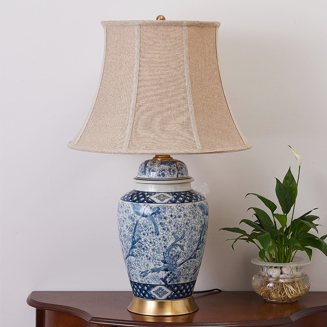 Oriental Ceramic Table Lamps Living Room