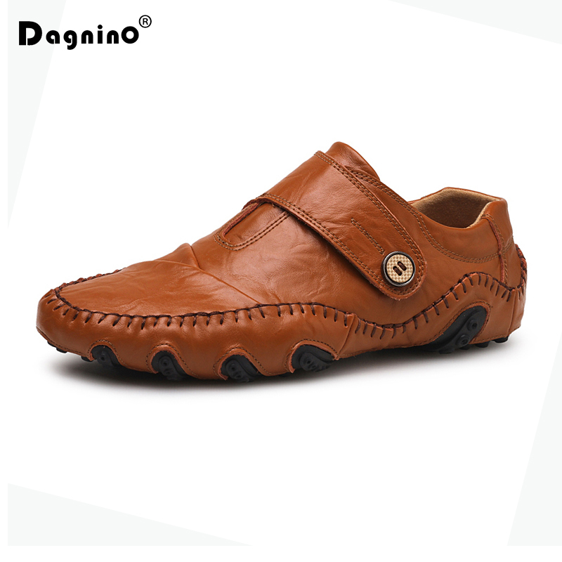 DAGNINO New Brand Men Casual Shoes Genuine Leather Slip On Men Driver Walking Shoes High Quality Outdoor Footwear Zapatos Hombre zapatos hombre sapato masculino couro new fashion high quality brand lace up genuine leather mens casual shoes multi color blue