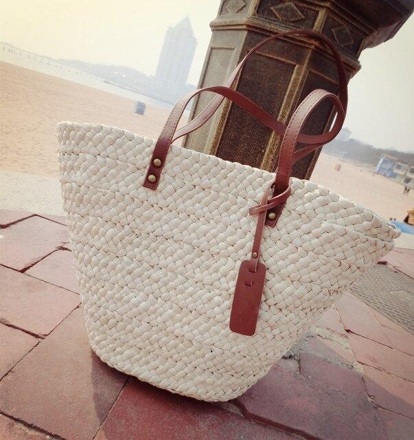 PU en blanco mano mujer de decoración para Cubos de con cuero Bolso qpHw404
