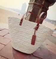 Le donne bianche con PU decorazione in pelle borsa staw girl fashion messenger bag borsa da spiaggia