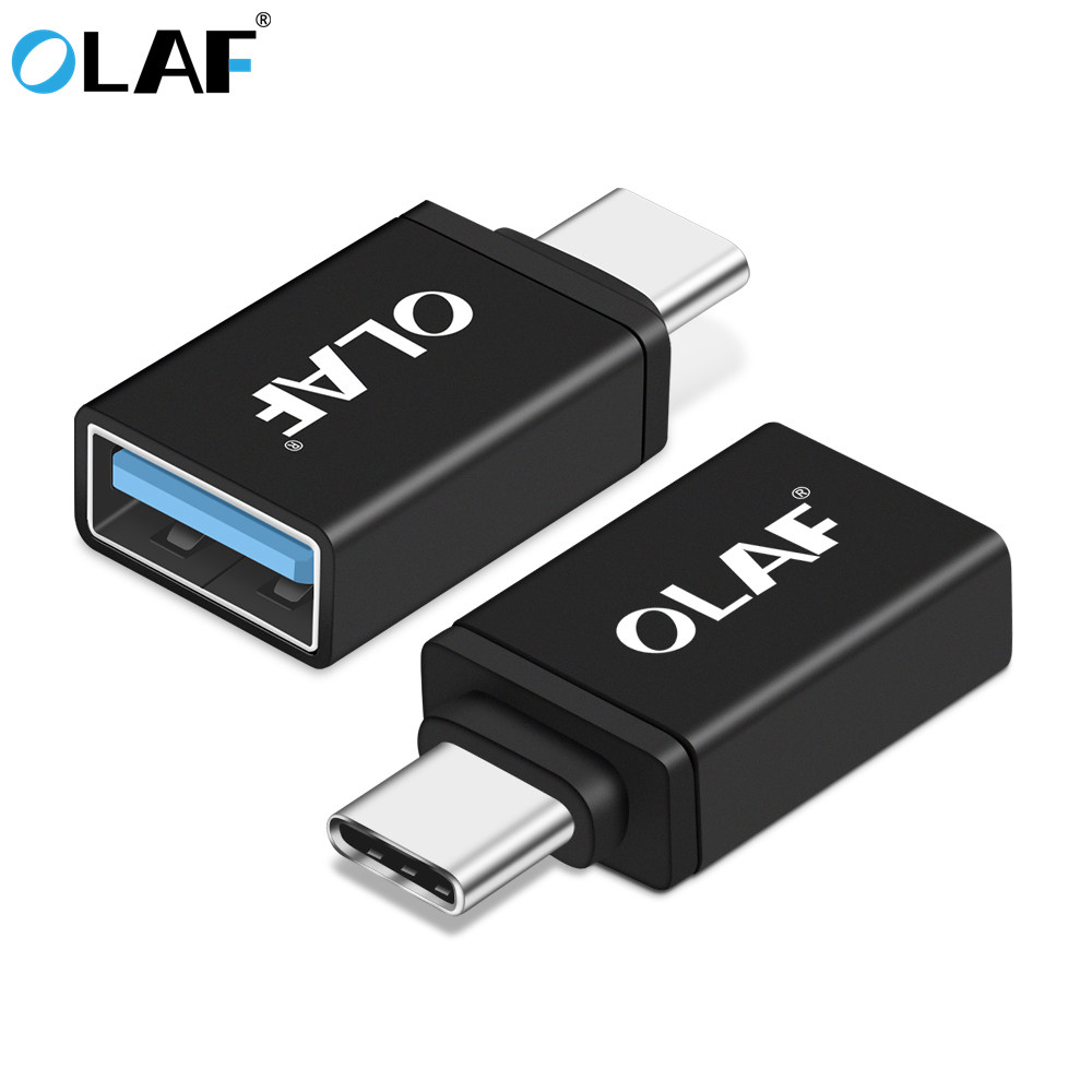 OLAF OTG Adapter Type C 3.0 Male to USB 3.0 Female Adapter Data 2 in 1 Charge & Sync USB C Type-c Converter For Samsung Macbook