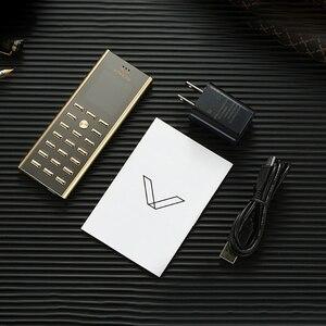 Image 5 - Mini cartão de luxo, pequeno, corpo de metal, telefone celular, dual sim, barra de celular, teclado russo, botão fino certdigi v01