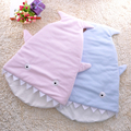 Multifunctional baby blanket Sharks sleeping bag children's cartoon mermaid tail blanket sleeping bag warm fleece blue pink