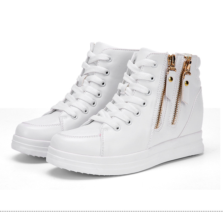 2018 spring new increase in women's shoes casual shoes platform women's shoes white shoes