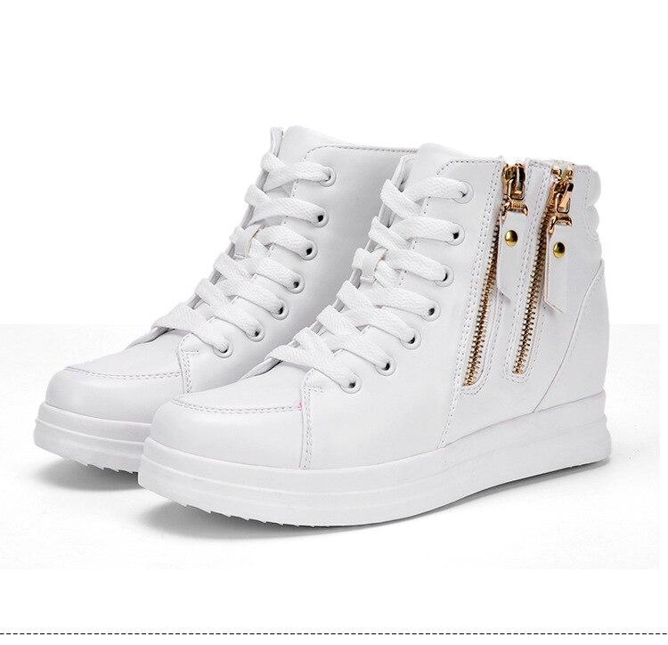 2018 wiosna nowy wzrost w buty damskie buty w stylu casual platformy damskie buty białe buty w Buty damskie na słupku od Buty na  Grupa 1