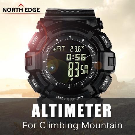 NORTHEDGE digital watches Men hours watch men s outdoor clock fishing weather Altimeter Barometer Thermometer Pedometer