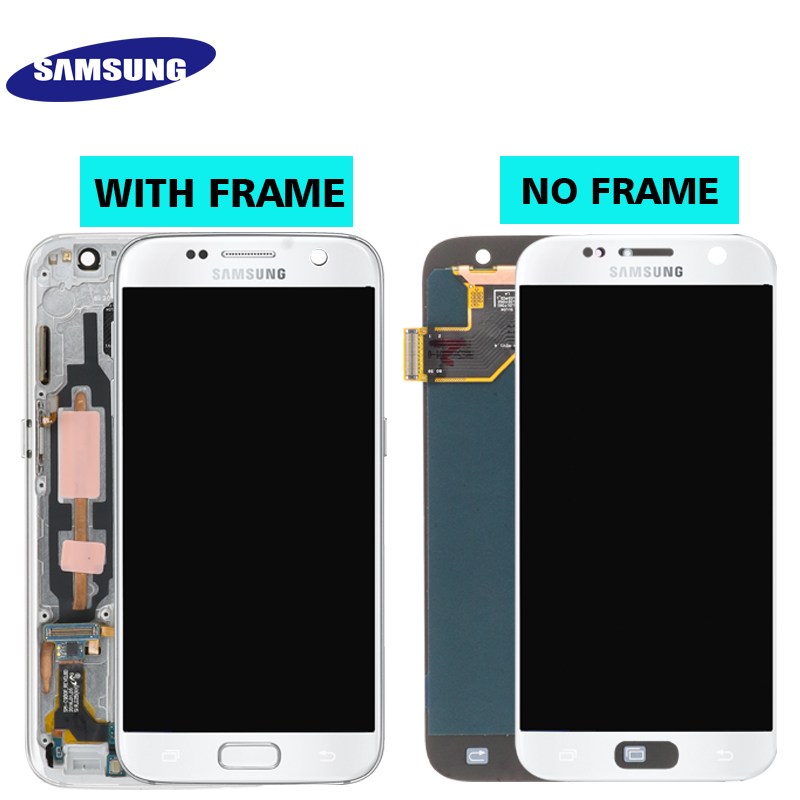 HTB16DI0S9zqK1RjSZFLq6An2XXaF ORIGINAL 5.1'' SUPER AMOLED LCD For Samsung Galaxy S7 G930 SM-G930F G930F LCD Display With Touch Screen Digitizer Replacement