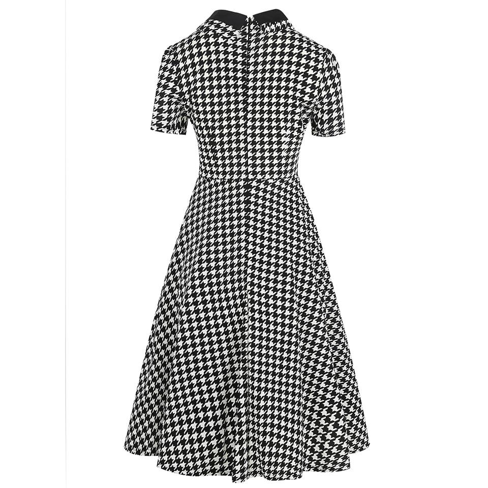 Oxiuly Ženska Odjeća 2018 Ljeto Gingham Polka Dot Houndstooth Swing - Ženska odjeća - Foto 2