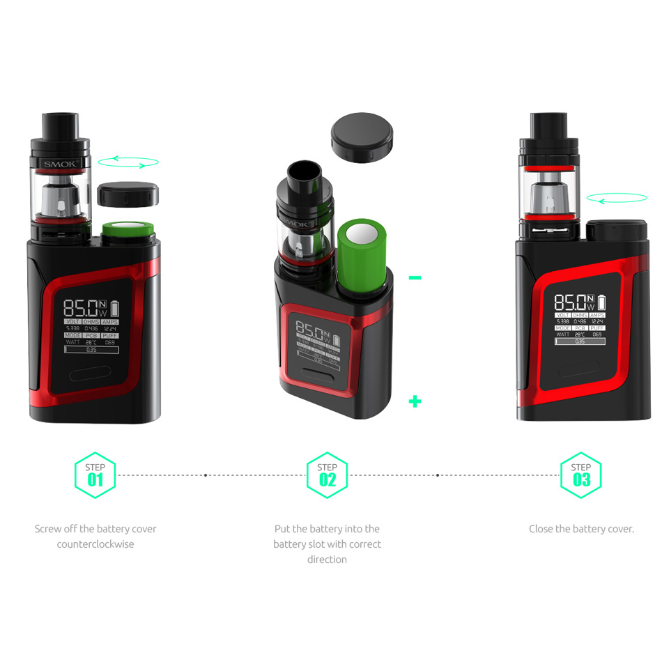 SMOK AL85 Kit Cigarette électronique vaporisateur Alien 85 W Vape boîte Mod E Cigarette Mech Mod Kit VS Mini S067 - 5