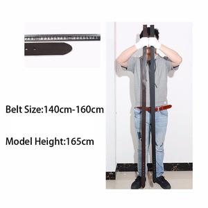 Image 5 - 2018 Mới Kích Thước Lớn Chính Hãng Người Đàn Ông Da Thắt Lưng Thời Trang dài nam thiết kế chất lượng cao 140 cm 150 cm 160 cm jeans pin khóa vành đai