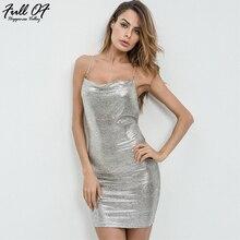Sexy Summer Dress Women Befree Sheath Silver bodycon dress vestido Bandage Beach Nightclub womens Halter Party Dresses vestido джемпер befree befree be031ewbxju8