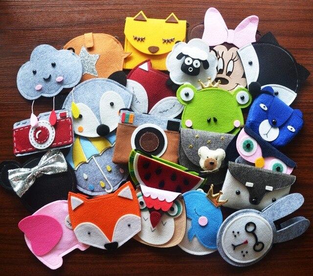 Monsisy девушка кошелек и сумки для детей мешок кошелек мультфильм лиса/медведь/кролик/слона для маленьких мальчиков малыша плечо сумка подарок