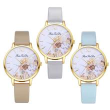 Women Fashion Fresh relogio feminino Color Flower Print Roman Number Analog Quartz Wrist Watch reloj hombre(China)