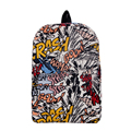 Hippie 2017 Canvas Backpacks Student School Bag Cartoon Print Rucksack Travel Pack Laptop Graffiti Bolsa Mochila Escolar