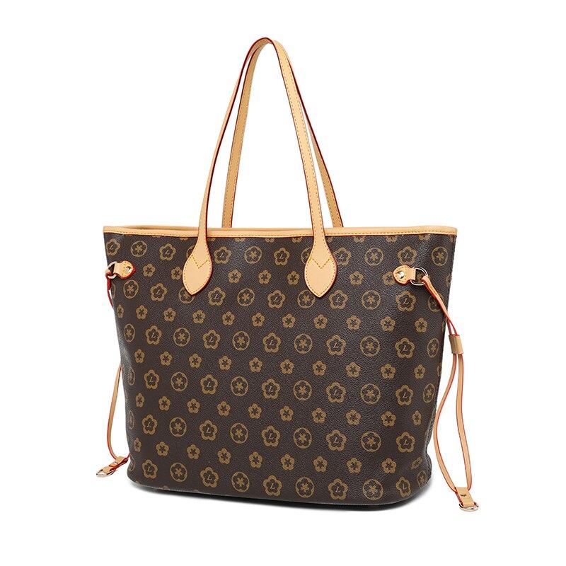 2019 Fashion Luxury Leather shopping Handbags Handbag Women's Bag Top Handle Bags Tote High Quality Luxury Shoulder Bags-in Top-Handle Bags from Luggage & Bags