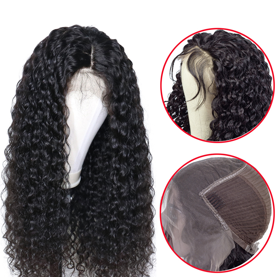 Superfect 13x4 Brazilian Curly Human Hair Wigs For Black Women Remy Pre Plucked With Baby Hair Lace Frontal Human Hair Wig-in Lace Front Wigs from Hair Extensions & Wigs    1
