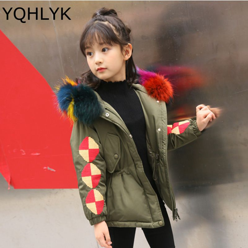 New Fashion Winter Boy Girl Down Jacket 207 Korean Children Thick Cotton High Quality Coat Casual Warm Kids Clothes 5-13Y W14 winter new fashion women coat leisure big yards thick warm cotton cotton coat hooded pure color slim fur collar jacket g2309
