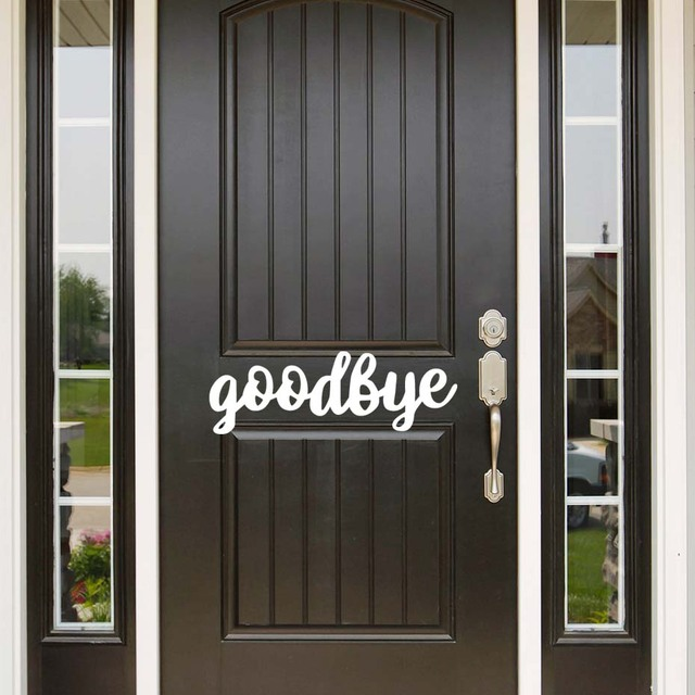Superior Goodbye Quote Wall Sticker Door Wall Decal Removable Easy Wall Stickers  Outlet Door Wall Art Diy