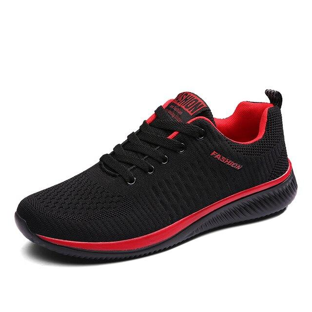 Tênis Para Homens Respirável Formadores Sneakers Lace-up Athletic Shoes Zapatos Sapatos Cesta Homme Lazer Calçado de Caminhada Ao Ar Livre